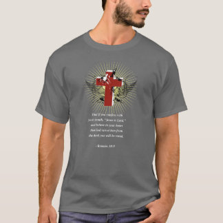 ROMANS 10:9 Bible Verse T-Shirt