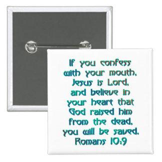 Romans 10:9 button