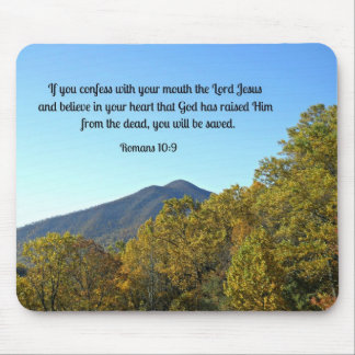 Romans 10:9 If you confess with your mouth... Mouse Pad