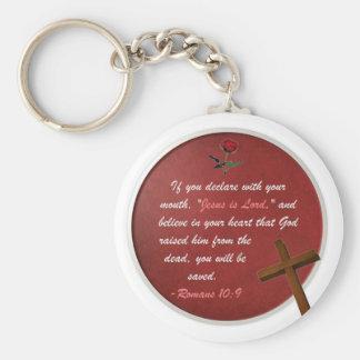 Romans 10:9 keychains