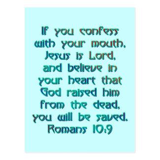 Romans 10:9 postcard