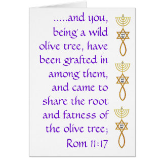 Romans 11:17  Card w/ grafted in seal