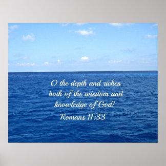 Romans 11:33 poster