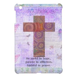 Romans 12 12 - Be joyful in hope patient BIBLE iPad Mini Cases