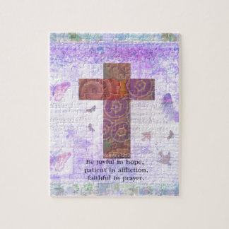 Romans 12:12 - Be joyful in hope, patient BIBLE Jigsaw Puzzle