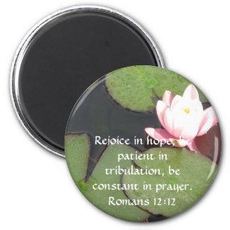 Romans 12:12 Bible Verse about HOPE Magnet