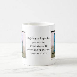 Romans 12:12 Bible Verse About Hope Classic White Coffee Mug