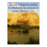 Romans 12:12 Bible Verse About Hope Postcards