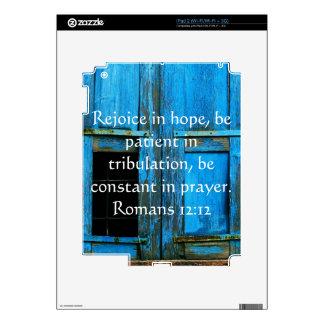 Romans 12:12 Bible Verse About Hope iPad 2 Skin