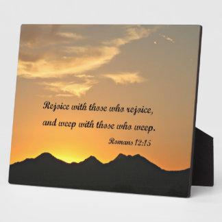 Romans 12:15 display plaques