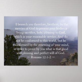 Romans 12:1-2 Poster print