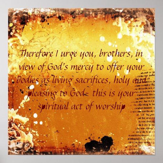 Romans 12:1 poster