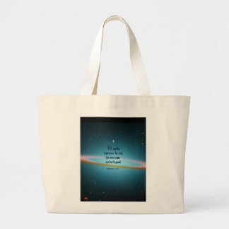 Romans 12 21 canvas bag