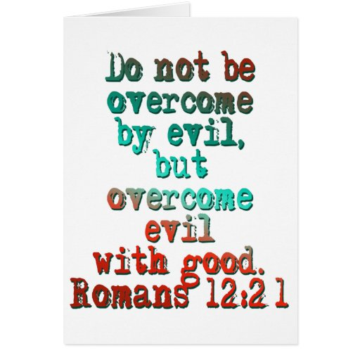 Romans 12:21 greeting cards