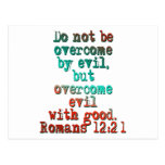 Romans 12:21 post cards