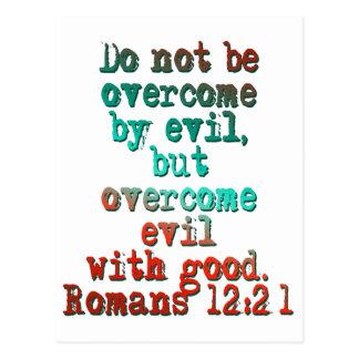 Romans 12:21 postcard