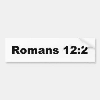 Romans 12:2 car bumper sticker