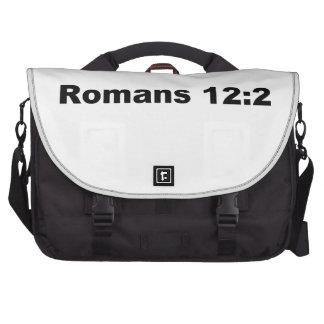 Romans 12:2 laptop bag