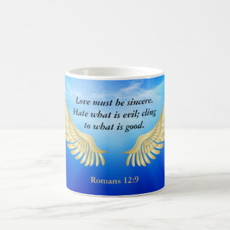 Romans 12:9 coffee mug