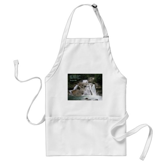 Romans 12:9  Waterfall Adult Apron