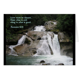 Romans 12:9  Waterfall Greeting Card