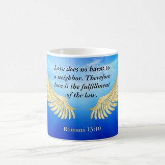 Romans 13:10 coffee mug