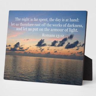 Romans 13:12 photo plaques