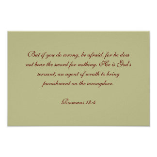 Romans 13:4 print