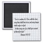 Romans 14:11-12 magnet