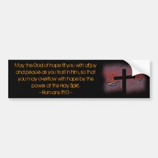 Romans 15:13 bumper stickers