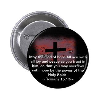 Romans 15:13 pinback button