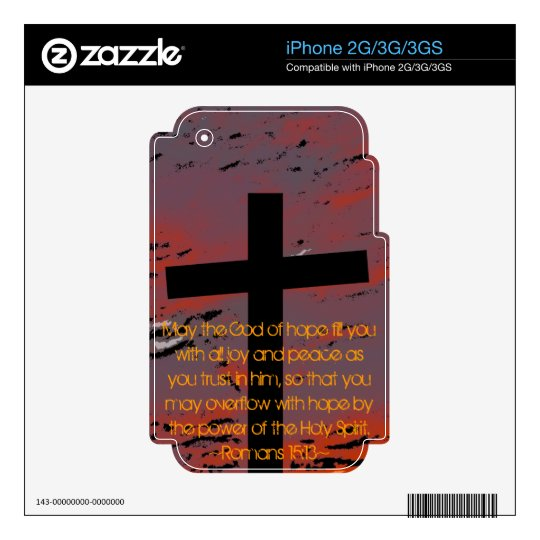 Romans 15:13 decals for the iPhone 3