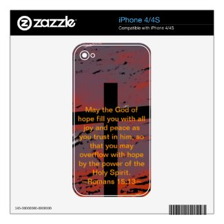 Romans 15:13 decals for the iphone 4