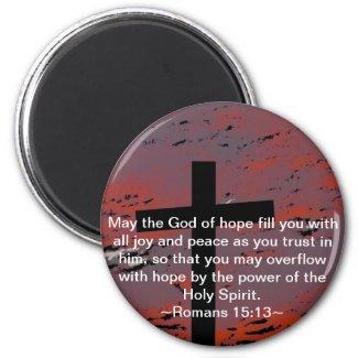 Romans 15:13 fridge magnets