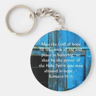 Romans 15:13  Inspirational Bible Verses Keychains