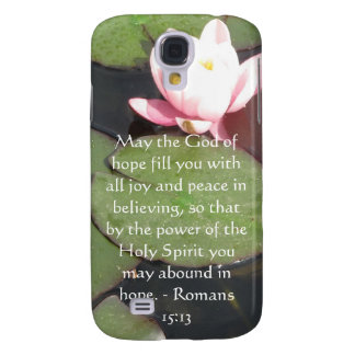 Romans 15:13  Inspirational Bible Verses Samsung Galaxy S4 Cover
