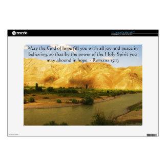 "Romans 15:13  Inspirational Bible Verses 15"" Laptop Skin"