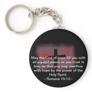 Romans 15:13 key chain