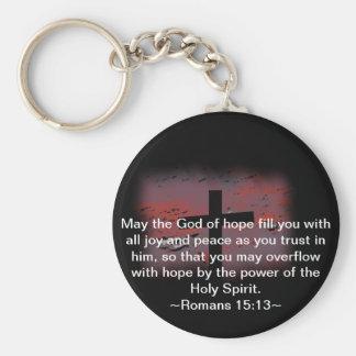 Romans 15:13 keychain