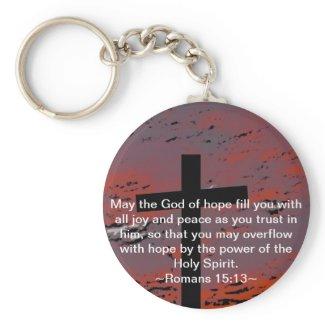 Romans 15:13 keychains