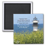 Romans 15:13 May the God of Hope, Lighthouse Magnet