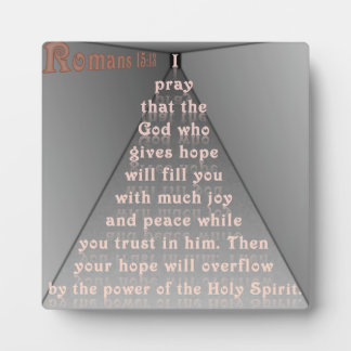 Romans 15:13 photo plaque