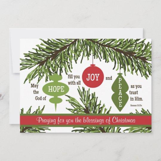 romans 1513 scripture verse christmas card - Christmas Card Scripture