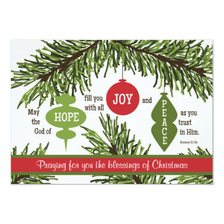 Romans 15:13 Scripture Verse Christmas Card