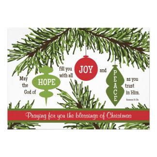 Romans 15 13 Scripture Verse Christmas Card Custom Announcements