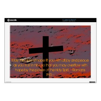 """Romans 15:13 skin for 17"""" laptop"""