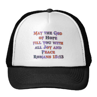 Romans 15:13 trucker hat