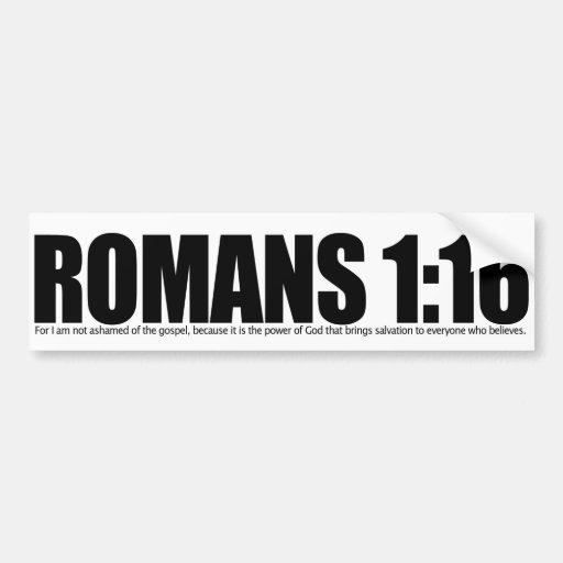Romans 1:16 bumper sticker
