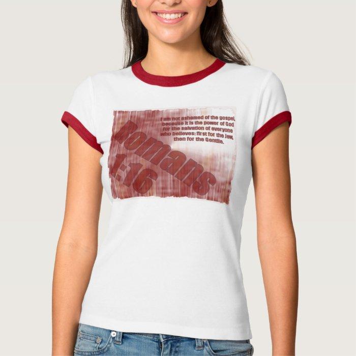 Romans 1 16 T Shirt Zazzle