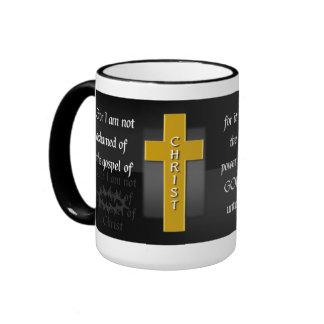 Romans 1:16a Bible Verse Coffee Mug